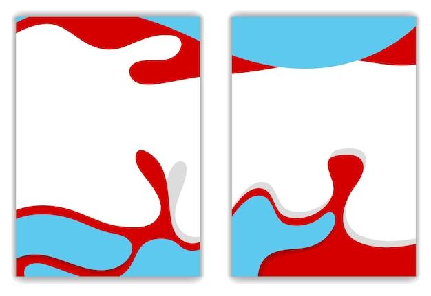 Яркий дизайн флаера волнистой формы. векторный фон