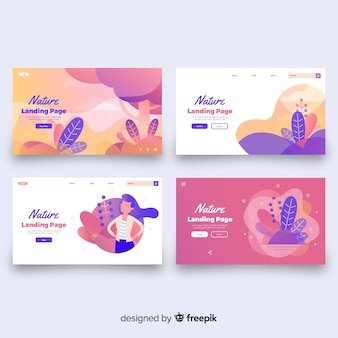 Wavy shapes landing page