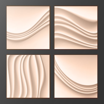 Wavy silk abstract background