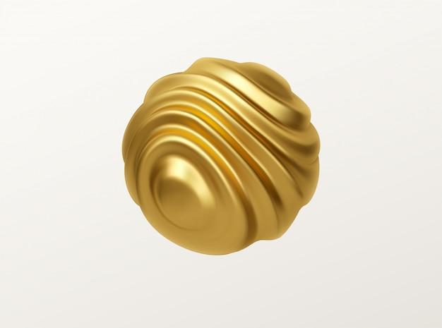Wavy sphere shape illustration