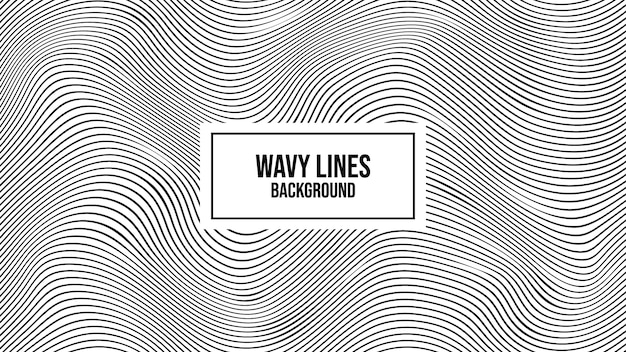 Волнистые полосатые линии искаженный фон