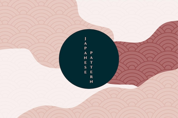 Wavy style geometric japanese background
