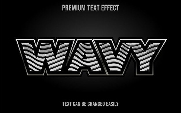 Wavy text effect