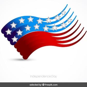 Ondulato bandiera degli stati uniti