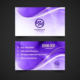 Wavy visiting card purple