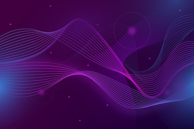 Wavy wallpaper with small particles