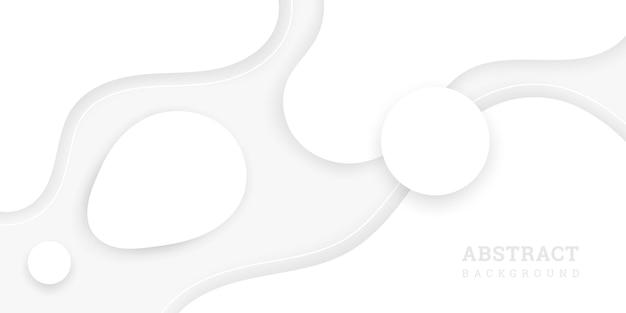 Волнистый белый фон в бумажном стиле
