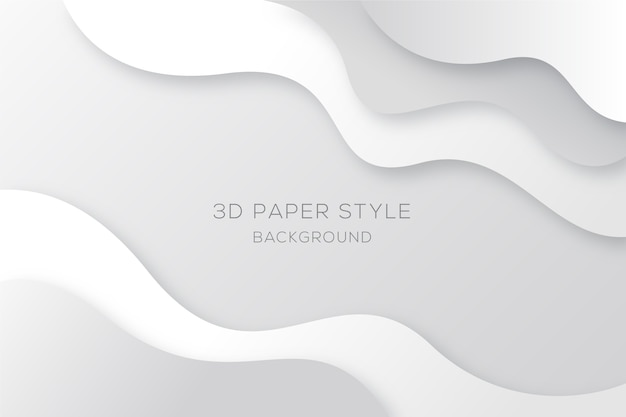 Wavy white and grey background in paper style