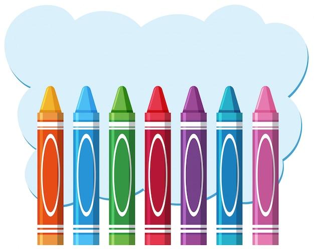 Wax pencils on blank copyspace