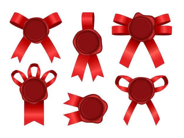 Wax seal with ribbon set