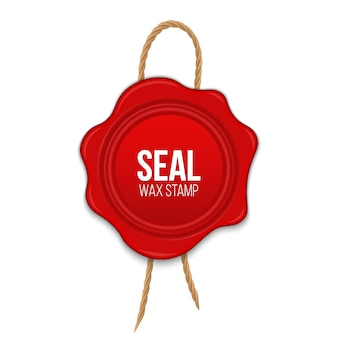 Wax seals with rope blank