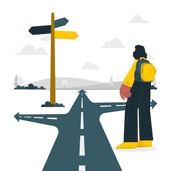 Sulla strada concetto illustrazione