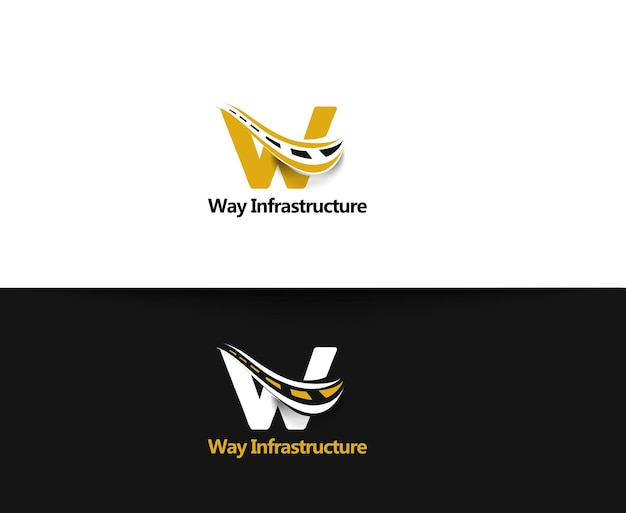 Way infrastructure web icons and vector logo