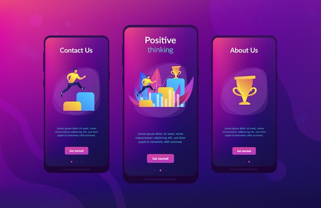 On the way to success app interface template