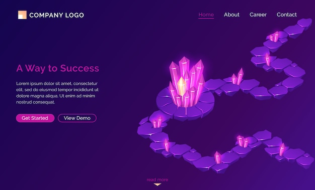 Way to success landing page