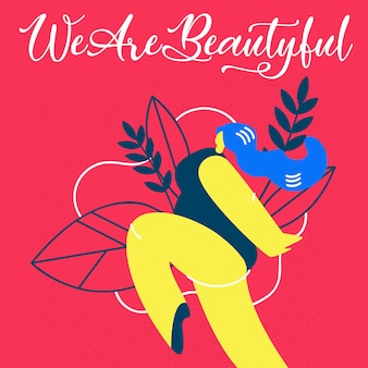 We are beautiful flat illustration