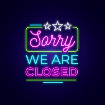 We are closed sign design