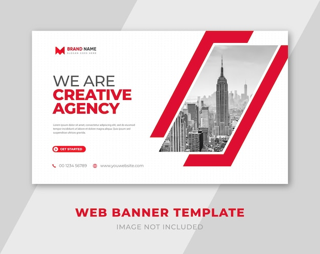 We are creative agency and corporate social media and web banner design template