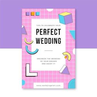 We are getting married colored geometric shape