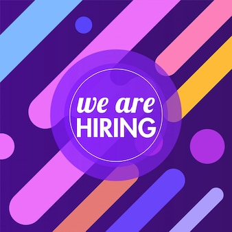 We are hiring, advertising poster or template