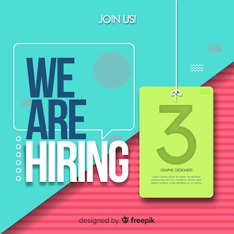 We are hiring background concept