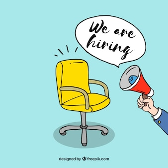 We are hiring background in hand drawn style