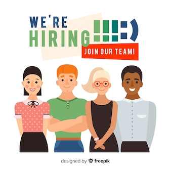 We are hiring background with team members