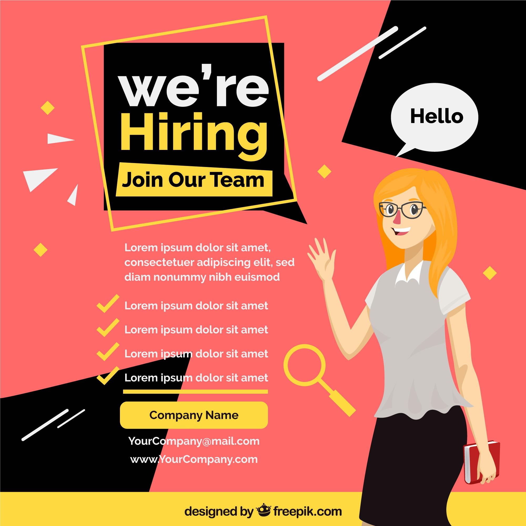 We are hiring background with worker