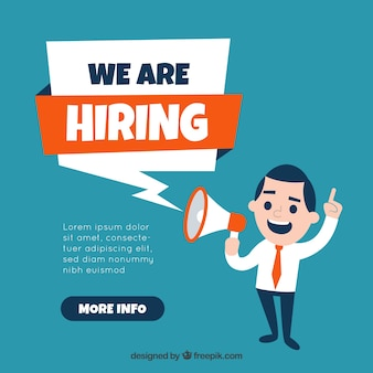 We are hiring banner composition flat design