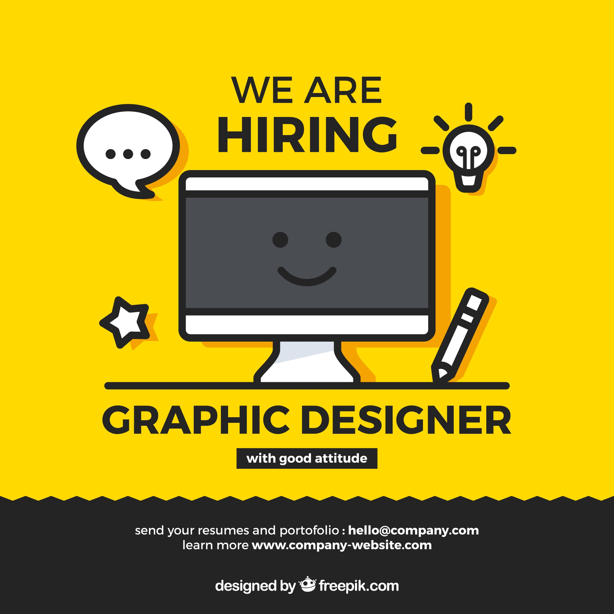 We are hiring banner composition