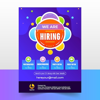 We are hiring banner design template