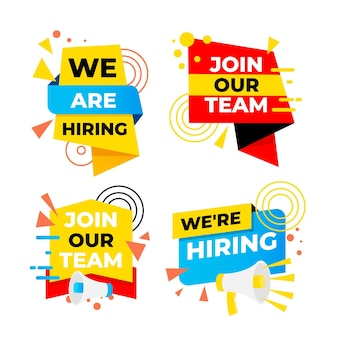 We are hiring banner set