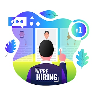 We are hiring banner. user is watching profiles