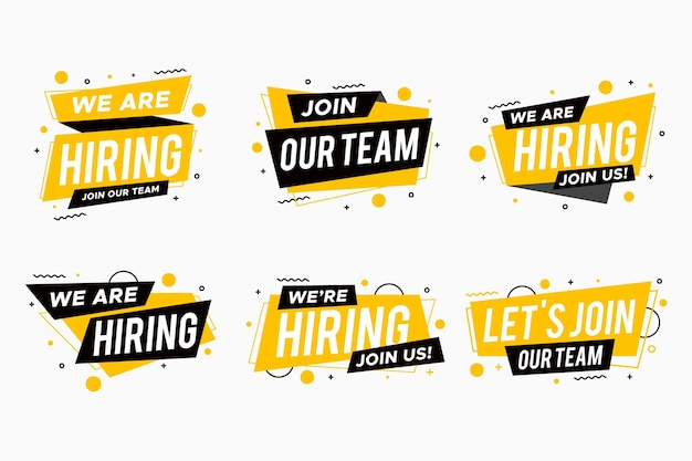 We are hiring banner web template