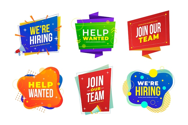 We are hiring banners collection