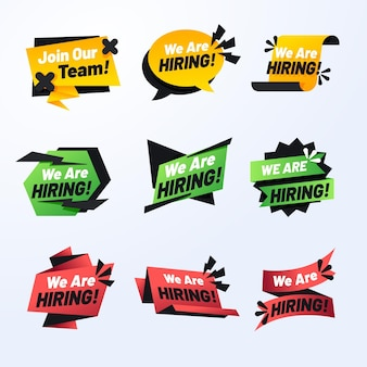 We are hiring - banners concept