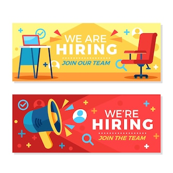 We are hiring banners concept
