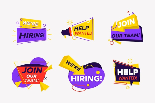 We are hiring banners pack