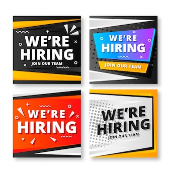 We are hiring banners set