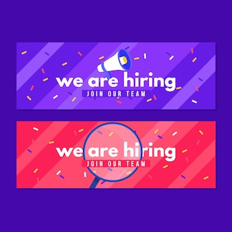 We are hiring - banners