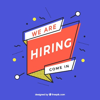 We are hiring colorful and modern banner composition