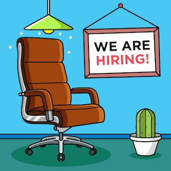 We are hiring concept. business   icon illustration