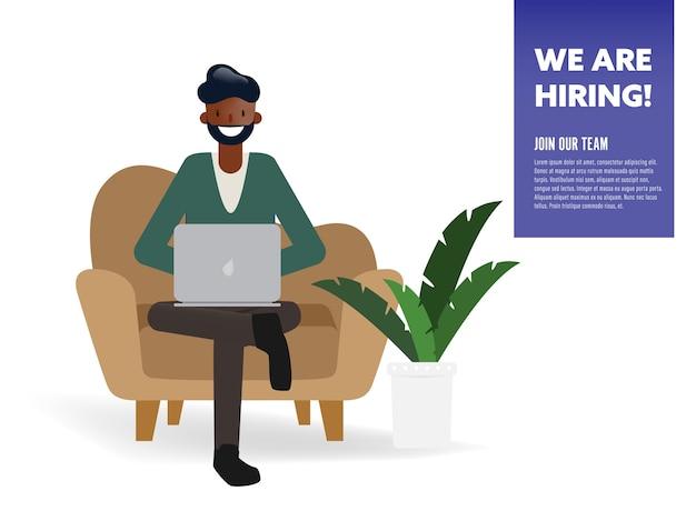 우리는 개념을 고용 사업가 문자입니다.