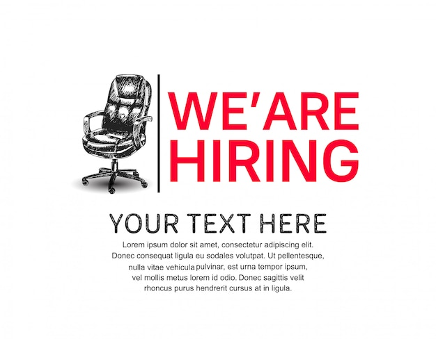 We are hiring concept poster