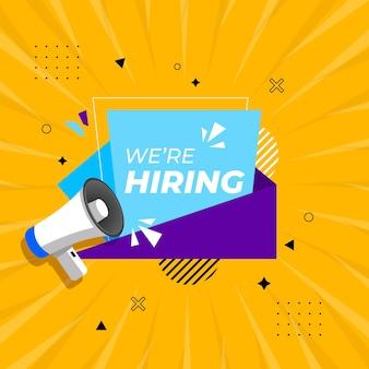 We are hiring concept social media post