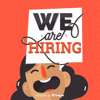 We are hiring concept