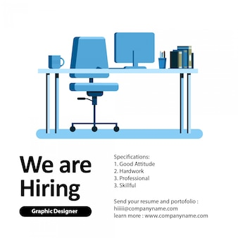 We are hiring graphic designer