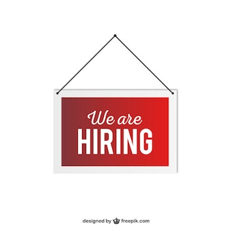 We are hiring hanging sign