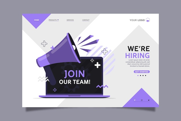 We are hiring home page