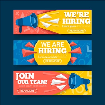 We are hiring horizontal banners